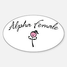 Cute Alpha female Sticker (Oval)