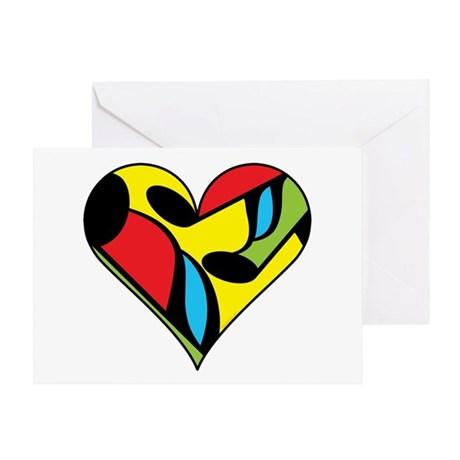 Music Note Heart Greeting Card