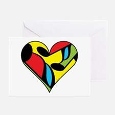 Music Note Heart Greeting Cards (Pk of 10)