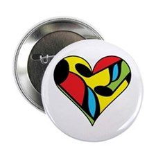 "Music Note Heart 2.25"" Button"