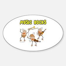Three Music Rocks Sticker (Oval)
