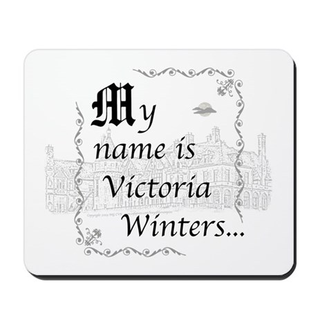 Victoria Winter B&W Mousepad