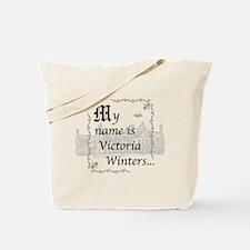 Victoria Winter B&W Tote Bag