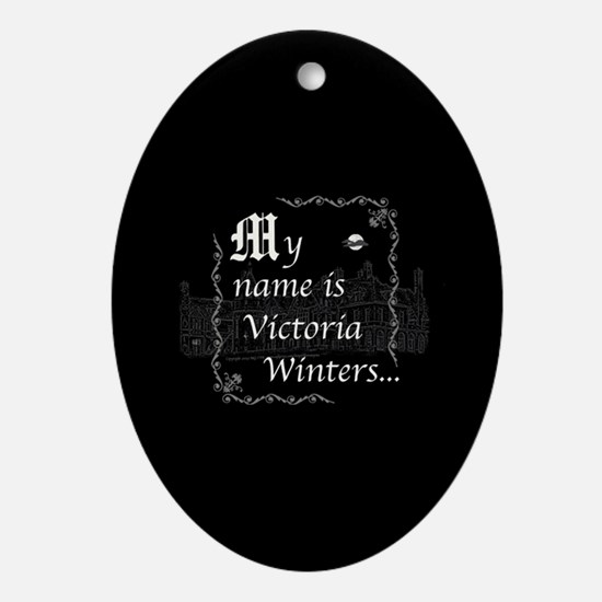 Victoria Winter B&W Ornament (Oval)