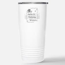 Victoria Winter B&W Stainless Steel Travel Mug