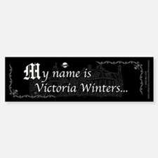 Victoria Winter B&W Bumper Bumper Sticker