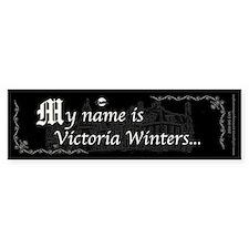Victoria Winter B&W Bumper Sticker