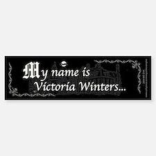 Victoria Winter B&W Stickers