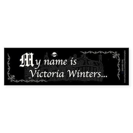 Victoria Winter B&W Sticker (Bumper 10 pk)