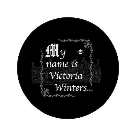 """Victoria Winter B&W 3.5"""" Button"""
