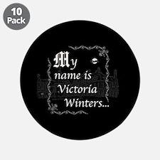 "Victoria Winter B&W 3.5"" Button (10 pack)"