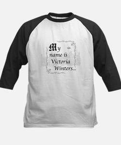 Victoria Winter B&W Kids Baseball Jersey