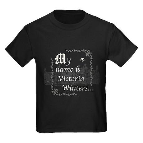 Victoria Winter B&W Kids Dark T-Shirt
