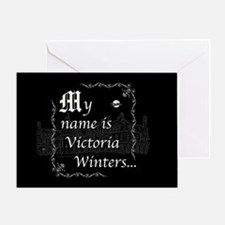 Victoria Winter B&W Greeting Card