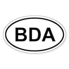 Bermuda BDA Sticker (Oval)