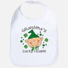 Grandma's Lucky Charm Boy Bib