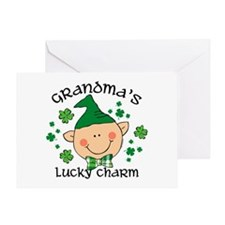 Grandma's Lucky Charm Boy Greeting Card