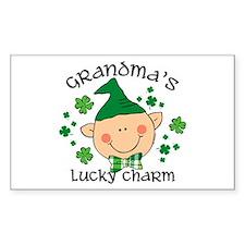Grandma's Lucky Charm Boy Decal