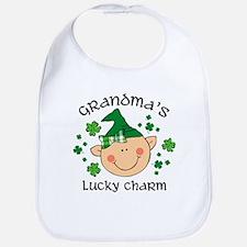 Grandma's Lucky Charm Girl Bib