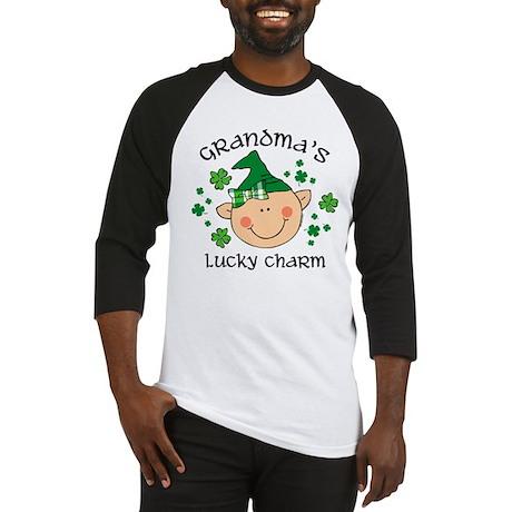 Grandma's Lucky Charm Girl Baseball Jersey