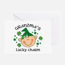 Grandma's Lucky Charm Girl Greeting Card
