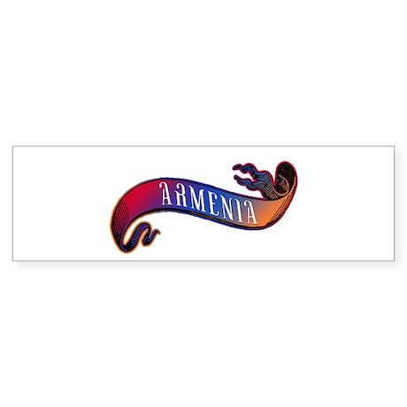 Armenian Flag Banner Sticker (Bumper)