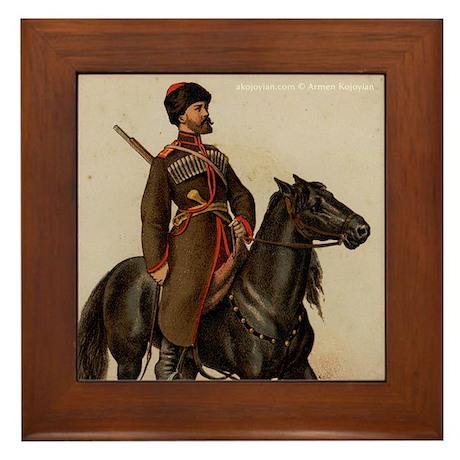 Cossack Soldier Framed Tile