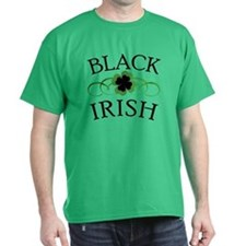 Black Irish with Fancy Shamrock T-Shirt