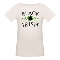 Black Irish with Fancy Shamrock Tee