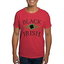 Black Irish with Fancy Shamrock T-Shirt