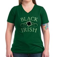 Black Irish with Fancy Shamrock Shirt
