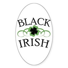 Black Irish with Fancy Shamrock Decal