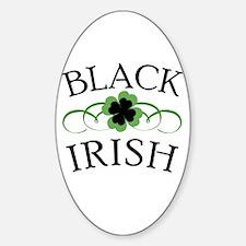 Black Irish with Fancy Shamrock Decal