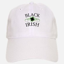 Black Irish with Fancy Shamrock Baseball Baseball Cap