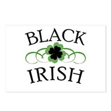 Black Irish with Fancy Shamrock Postcards (Package