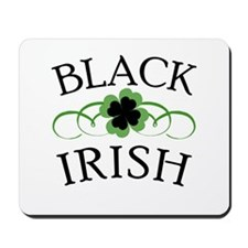 Black Irish with Fancy Shamrock Mousepad