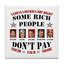 Cool Economic crisis Tile Coaster