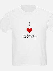 I Love Ketchup Kids T-Shirt