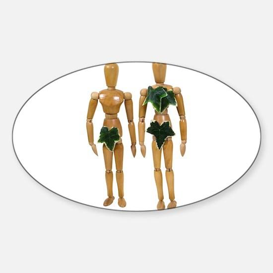 Adam and Eve Sticker (Oval)