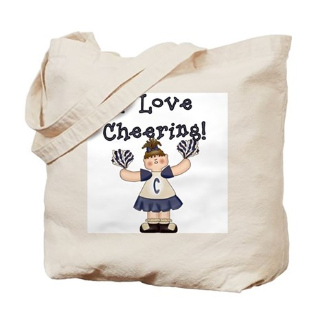 I Love Cheering (Blue) Tote Bag