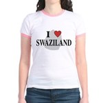 I Love Swaziland Jr. Ringer T-Shirt