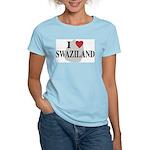 I Love Swaziland Women's Pink T-Shirt