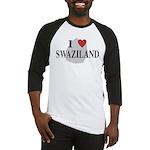 I Love Swaziland Baseball Jersey