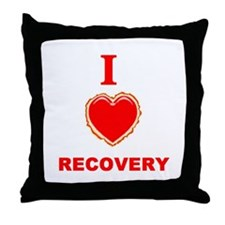 I (heart) love recovery, i love recovery Throw Pil
