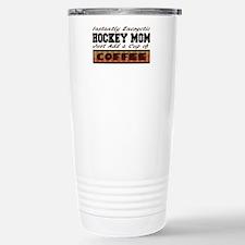 Hockey Mom Just Add Coffee Stainless Steel Travel