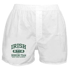 New York Irish Drinking Team Boxer Shorts