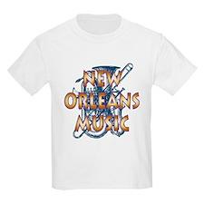 Gold New Orelans Music T-Shirt
