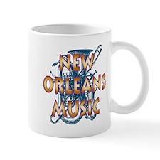 Gold New Orelans Music Mug