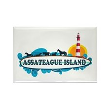 Assateague Island VA Rectangle Magnet