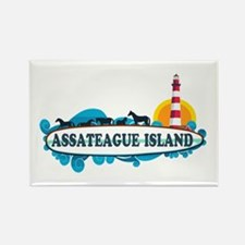 Assateague Island VA Rectangle Magnet